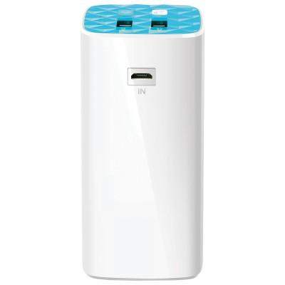 10400mAh Power Bank - TP-Link TL-PB10400, White, Power Capacity: 10400mAh, LED Flash, Portable Battery Charger - for device with USB port, I/O: USB1 5V/1A, USB2 5V/2.1A, USB1+2 5V/2A(Max)