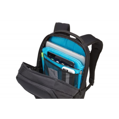 """14-15"""" NB Backpack - THULE Accent 20L, Black, Safe-zone, 1680D Polyester, Dimensions: 28 x 24 x 44  cm, Weight 0.93 kg, Volume 20L"""