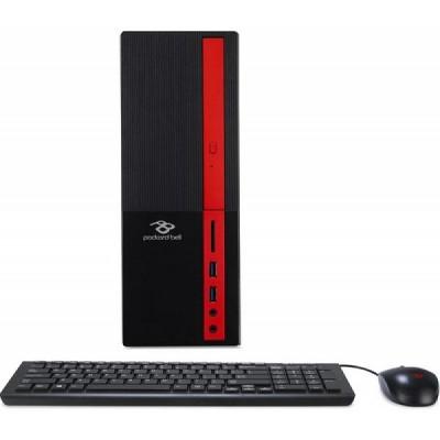 Acer/Packard Bell iMedia S3730 Desktop (DT.UAVME.002) Intel® Celeron® Dual Core J3355 up to 2.5 GHz, 4GB DDR3 RAM, 1TB HDD, No ODD, Card Reader, Intel® HD Graphics, VGA, HDMI, Wi-Fi/BT, 90W PSU, Endless OS, USB KB/MS, Black/Red