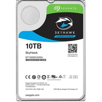 "3.5"" HDD 10.0TB  Seagate ST10000VX0004 SkyHawk™ Surveillance, 7200rpm, 256MB, SATAIII"