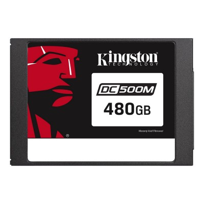 """2.5"""" SSD 480GB  Kingston DC500M Data Center Enterprise, SATAIII, Mixed-Use, 24/7, SED, PLP, Sequential Reads:555 MB/s, Sequential Writes:520 MB/s, Steady-state 4k: Read: 98,000 IOPS / Write: 58,000 IOPS, 7mm, Phison PS3112-S12DC, 3D NAND TLC"""