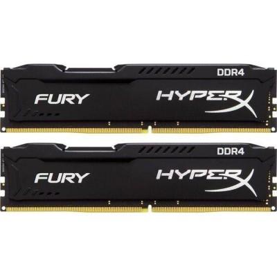 16GB  (Kit of 2*8GB) DDR4-3000  Kingston HyperX® FURY DDR4, PC24000, CL15, 1.2V, Auto-overclocking, Asymmetric BLACK heat spreader, Intel XMP Ready (Extreme Memory Profiles)