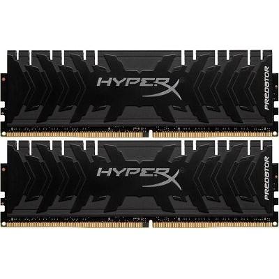 32GB (Kit of 2*16GB) DDR4-3600  Kingston HyperX® Predator DDR4, PC28800, CL17, 1.35V, BLACK heat spreader, Intel XMP Ready (Extreme Memory Profiles)