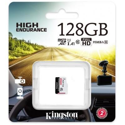 128GB microSD Class10 A1 UHS-I FC  Kingston High Endurance, 600x, Up to: 95MB/s, High performance, Seamless recording