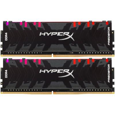 32GB (Kit of 2*16GB) DDR4-3000  Kingston HyperX® Predator DDR4 RGB, PC24000, CL15, 1.35V, BLACK heat spreader, Dynamic RGB effects featuring HyperX Infrared Sync technology, Intel XMP Ready (Extreme Memory Profiles)
