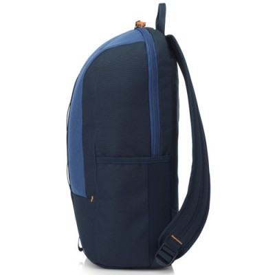 """15.6"""" NB Backpack - HP Commuter Backpack (Blue), sporty zip-up backpack, Padded, air-mesh shoulder straps, A water-resistant coating on the bottom, Reflective accents for safety."""