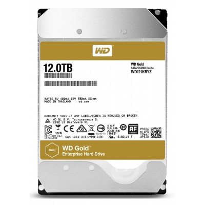 "3.5"" HDD 12.0TB  Western Digital WD121KRYZ Enterprise® Gold™, 512E model, 24x7, 7200rpm, 256MB, SATAIII"