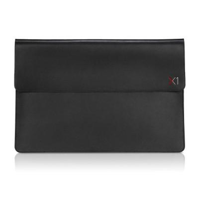 "14"" Lenovo ThinkPad X1 Carbon/Yoga -  Leather Sleeve by Targus, Magnetic closure, Back slip pocket, Black."