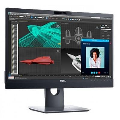 """23.8"""" DELL IPS LED P2418HZM  Black (6ms, 1000:1, 250cd, 1920x1080, 178°/178°, VGA, DisplayPort, HDMI, Height-adjustable, Pivot, USB hub: 4 x USB3.0, Webcamera 2.1MP, Speakers 2 x 5W, Mic, VESA)"""