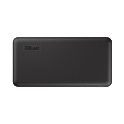 15000mAh Power bank - Trust Primo, Black, Fast-charge with maximum speed via USB-C (15W) or USB-A (12W). Charging speed varies between devices