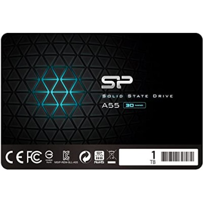 """2.5"""" SSD 1.0TB  Silicon Power  Ace A55, SATAIII, SeqReads: 560 MB/s, SeqWrites: 530 MB/s, Controller  Silicon Motion SM2258XT, MTBF 1.5mln, SLC Cash, BBM, SP Toolbox, 7mm, 3D NAND TLC"""
