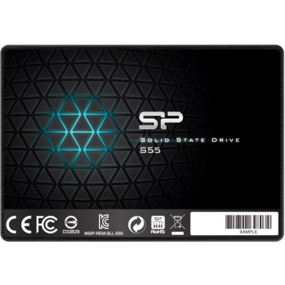"""2.5"""" SSD 960GB  Silicon Power  Slim S55, SATAIII, SeqReads: 560 MB/s, SeqWrites: 530 MB/s, Controller Phison PS3110-S10, MTBF 1.0mln, SLC Cache, BBM, SP Toolbox, 7mm, 3D NAND TLC"""