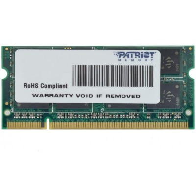 2GB DDR2-800 SODIMM  Patriot Signature Line, PC6400, CL5, 2 Rank, Double-Sided module, 1.8V