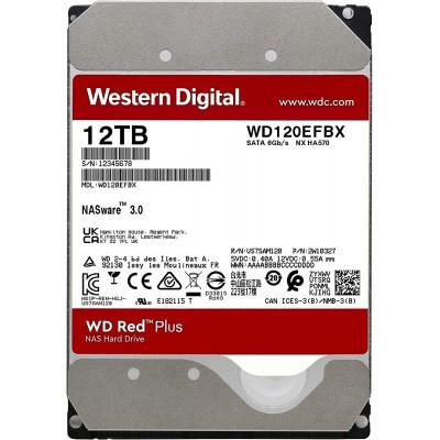 3.5'' HDD 12.0TB  Western Digital WD120EFBX Caviar® Red™ Plus NAS, CMR Drive, 7200rpm, 256MB, SATAIII
