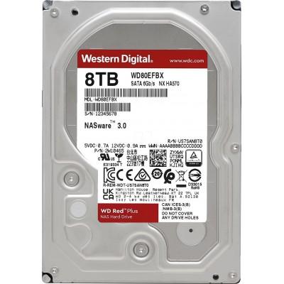 3.5'' HDD 8.0TB  Western Digital WD80EFBX Caviar® Red™ Plus NAS, CMR Drive, 7200rpm, 256MB, SATAIII