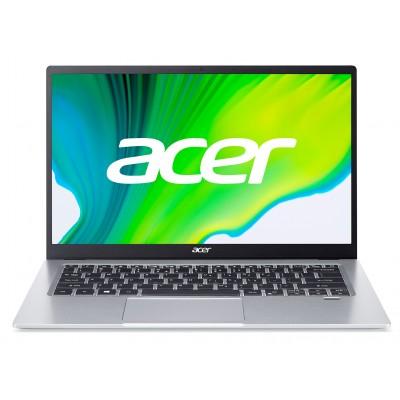 "ACER Swift 1 Pure Silver (NX.A77EU.00F), 14.0"" IPS FHD (Intel Pentium Silver N6000 4xCore 1.1-3.3GHz, 4GB (1x4) LPDDR4 RAM, 256GB PCIe NVMe SSD, Intel UHD Graphics, CR, WiFi6-AX/BT5.1, FPS, Backlit, 3cell, HD Webcam, RUS, No OS, 1.3kg, 14.95mm)"