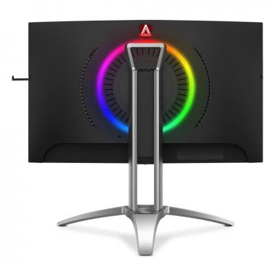 """27"""" AOC """"AG273QCX"""" Black (Curved-VA 2560x1440, FeeSync 144Hz 1msMPRT, HDR 400cd, D-Sub+HDMI+DP, HAS)"""