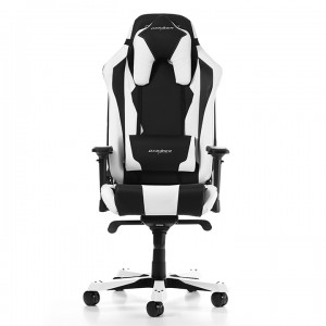 Scaun Gaming DXRacer Sentinel GC-S28-NW, Black/White, User max load up to 150kg/height 180-205cm