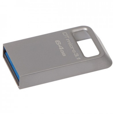 "64GB USB3.1 Flash Drive Kingston DataTravaler Micro ""DTMC3"", Ultra-small Metal Case (DTMC3/64GB)"