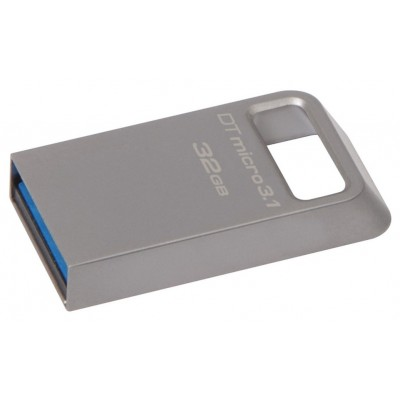 "32GB USB3.1 Flash Drive Kingston DataTravaler Micro ""DTMC3"", Ultra-small Metal Case (DTMC3/32GB)"