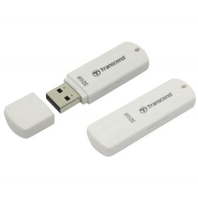 """32GB USB2.0 Flash Drive Transcend """"JetFlash  370"""", White, Classic Cap (R/W:18/8MB/s)"""