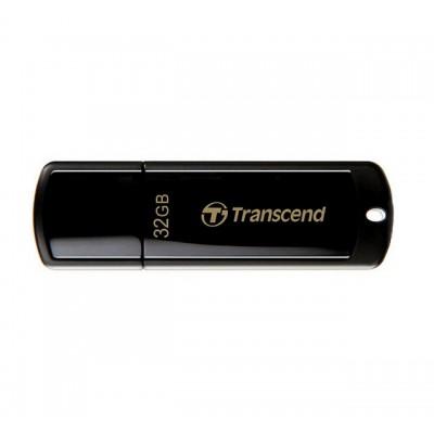 """32GB USB2.0 Flash Drive Transcend """"JetFlash  350"""", Black, Classic Cap (R/W:18/8MB/s)"""