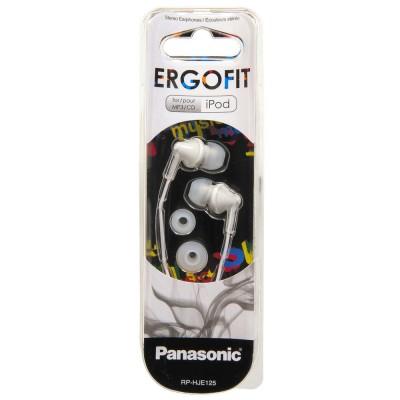 Earphones Panasonic RP-HJE125E-W White, w/o Mic, 1 x mini-jack 3.5mm