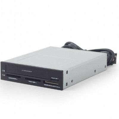"3.5"" Card Reader Internal Gembird FDI2-ALLIN1-03, 2.5'' HDD/SSD drive bay, SD/MMC/RS-MMC/MS/MicroSD"