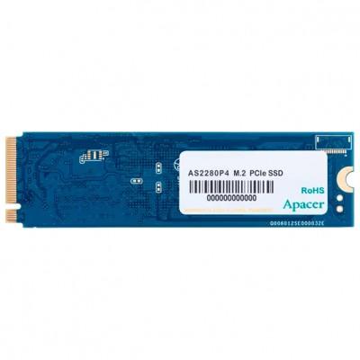.M.2 NVMe SSD   512GB  Apacer AS2280P4 [PCIe 3.0 x4, R/W:2100/1500MB/s, 250K/240K IOPS, 3D TLC]