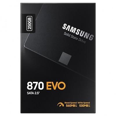 """2.5"""" SATA SSD  250GB Samsung 870 EVO """"MZ-77E250BW"""" [R/W:560/530MB/s, 98K IOPS, MGX, V-NAND 3bit MLC]"""