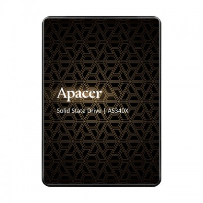 "2.5"" SATA SSD    120GB   Apacer ""AS340X"" [R/W:550/500MB/s, 38/75K IOPS, 3D-NAND TLC], Retail"
