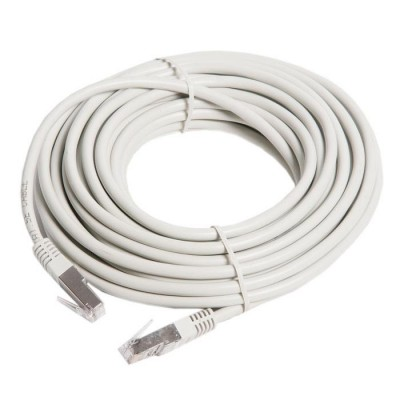 """10m,  FTP Patch Cord  Gray, PP22-10M, Cat.5E, Cablexpert, molded strain relief 50u"""" plugs"""