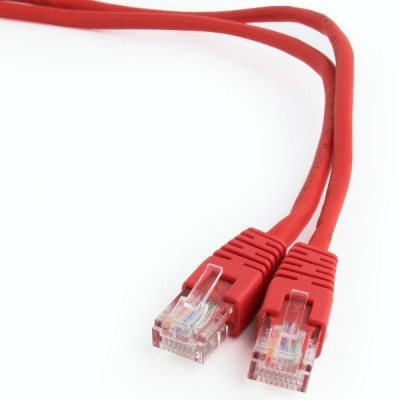 """1 m, FTP Patch Cord  Red, PP22-1M/R, Cat.5E, Cablexpert, molded strain relief 50u"""" plugs"""