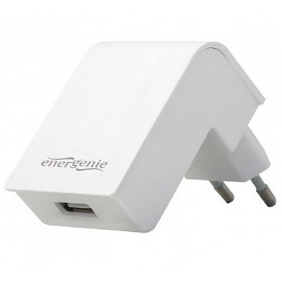 Universal USB charger, Out:1 USB * 5V / 2.1A, In: Schuko CEE 7/4, White, EG-UC2A-02-W